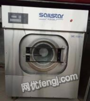 河北石家庄低价出售二手水洗机烘干机折叠机烫平机脱水机全新炒沙