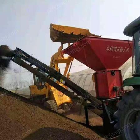水稻苗床粉土机 大棚秧苗粉土机 轴传动土壤粉碎机出售