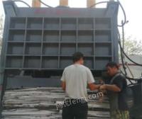 山东济宁福建废金属压块机 315吨易拉罐铝合金压包机出售