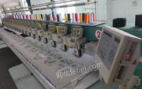江苏南京出售田岛绣花机tmfd2003年购入6针20头33厘米头距