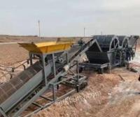 河北邢台出售筛沙机洗沙机脱水筛筛石机沙土掺和配料机装袋机