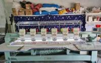 山东青岛出售绣花机单头,四头,六头样机多台