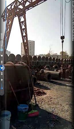 水泥制品厂处理2米悬辊制管机1台,3/10吨行车各1台(详见图)