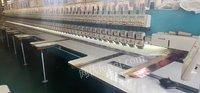 浙江绍兴出售二手盛鹰6针76头16.5头距528高速机面线夹齿单拖双驱6台小框18年的机器