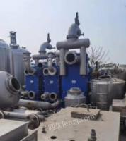 河南郑州二手2000升单效板式浓缩蒸发器出售