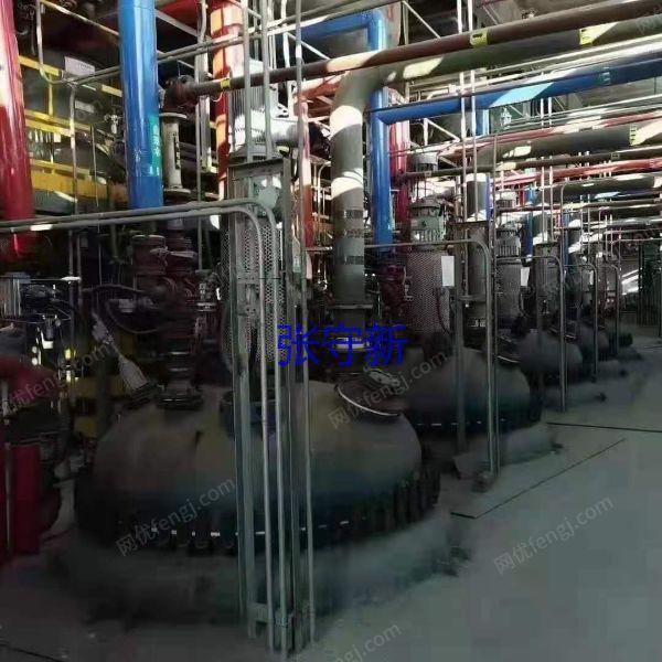 12套九成新反应釜 搪瓷反应釜 不锈钢反应釜上线