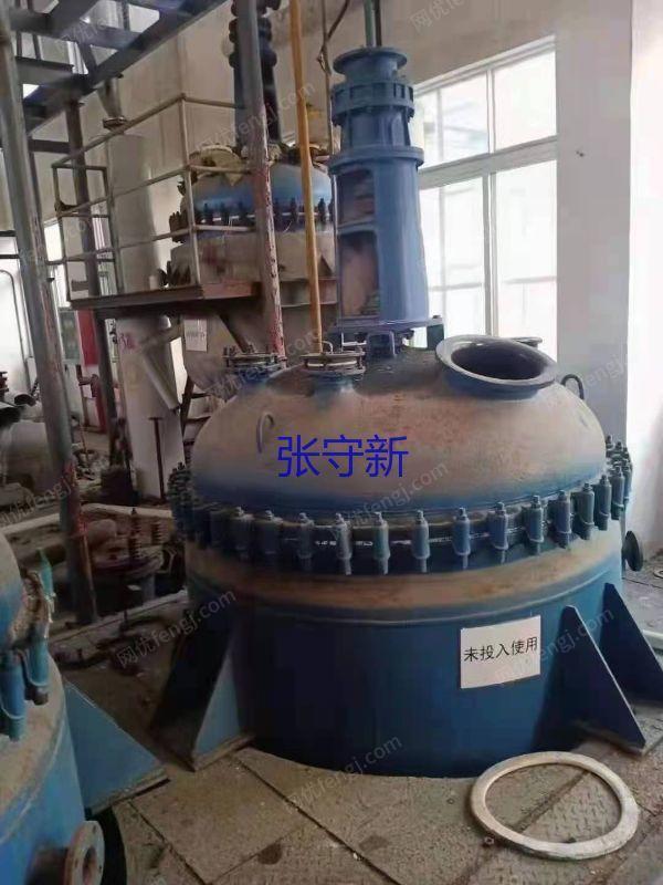 淄博产二手不锈钢反应釜 1吨 2吨 3吨 5吨二手反应釜
