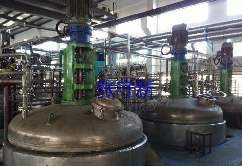 湖北产10吨不锈钢反应釜 共22套 电加热 搅拌齐全