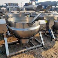 转让二手灌装机、反渗透二手水处理杀菌锅、夹层锅、斩半机