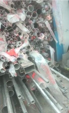 不锈钢  全新6m长。大的小的厚点,薄的都有, 201的15吨,304的9吨  全部打包处理