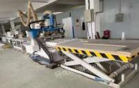 江苏南通整套板式家具生产设备在位转让