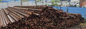 重庆九龙坡区大量出售各种型号轨道钢再用轨