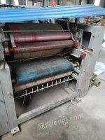 印刷厂就近出售600 4色普通编织袋胶版印刷机1台,600 5色电脑彩色编织袋印刷机1台,有图片